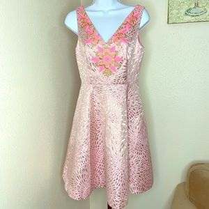 Lilly Pulitzer Elaine pink gold lagoon dress 0 NWT